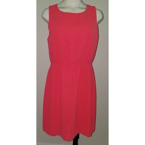 J Crew Factory Coral Sheath Dress Sleeveless Sz 8